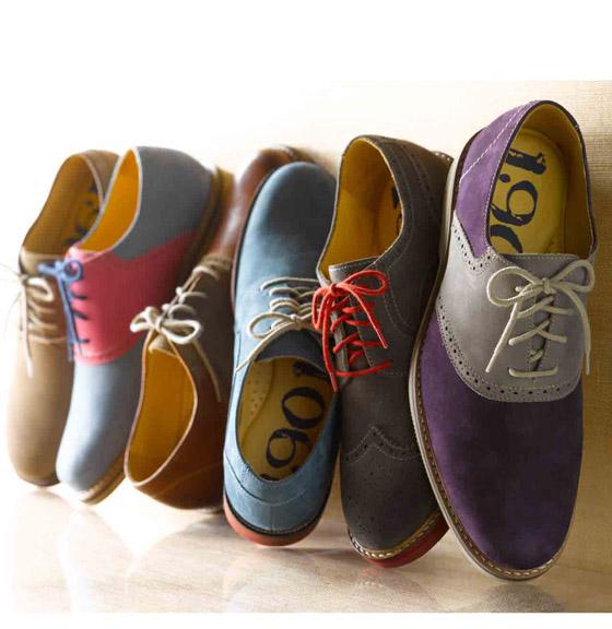 Mens Suede Saddle Shoes
